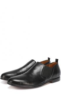Кожаные ботинки без шнуровки с круглым мысом Antonio Maurizi