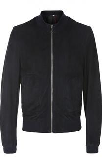 Замшевая куртка-бомбер Dolce & Gabbana