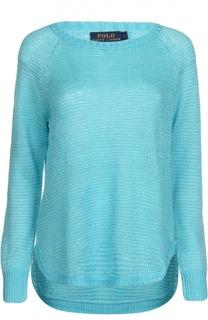 Льняной вязаный пуловер Polo Ralph Lauren