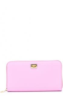 Кожаное портмоне с тиснением Dauphine Dolce & Gabbana