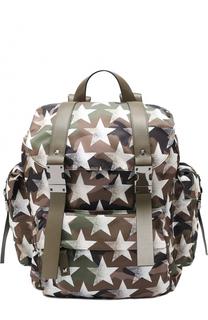 Текстильный рюкзак Camustars с отделкой из натуральной кожи Valentino