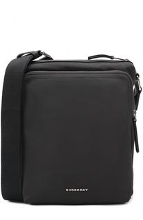 Текстильная сумка-планшет с внешним карманом на молнии Burberry