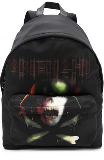 Текстильный рюкзак с контрастным принтом Givenchy