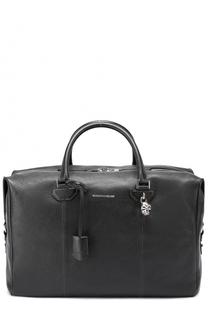 Кожаная дорожная сумка с плечевым ремнем Alexander McQueen