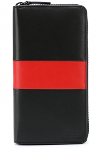 Кожаное портмоне на молнии с отделениями для кредитных карт и  монет Polo Ralph Lauren