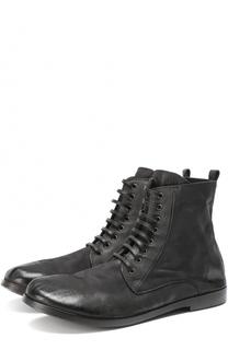 Кожаные ботинки с эффектом состаривания Marsell