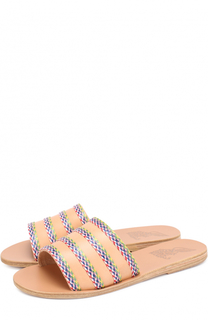 Кожаные шлепанцы Taygete с плетением Ancient Greek Sandals