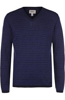 Пуловер тонкой вязки из смеси шелка и хлопка Armani Collezioni