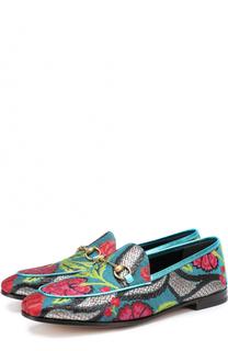 Лоферы New Jordan с вышивкой Gucci
