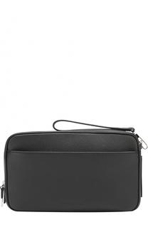 Кожаная борсетка с внешним карманом на молнии Dior