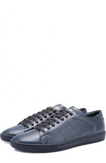 Кожаные кеды на шнуровке Saint Laurent