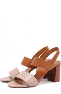 Кожаные босоножки Mia на устойчивом каблуке Chloé