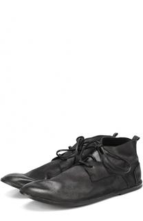 Кожаные ботинки на шнуровке с круглым мысом Marsell
