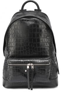 Кожаный рюкзак с тиснением под крокодила Balenciaga
