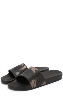 Резиновые шлепанцы с камуфляжным принтом Valentino