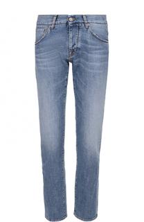 Джинсы прямого кроя с контрастной прострочкой 2 Men Jeans