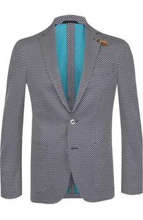 Хлопковый однобортный пиджак Baldessarini