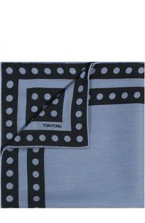 Платок из смеси шелка и шерсти с хлопком Tom Ford