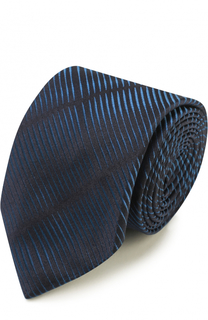 Галстук из смеси шелка и хлопка Armani Collezioni