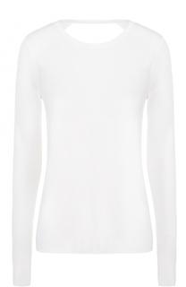 Шерстяной пуловер с круглым вырезом и открытой спиной Diane Von Furstenberg