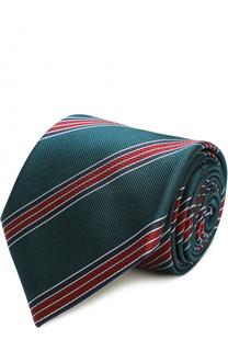 Шелковый галстук в полоску Brioni