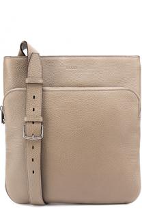 Кожаная сумка-планшет с внешним карманом на молнии Bally