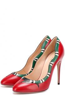 Кожаные туфли Yoko на шпильке Gucci