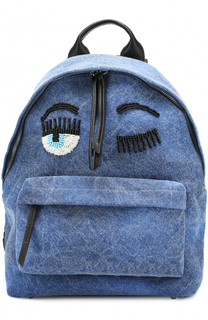 Текстильный рюкзак Flirting с вышивкой бисером Chiara Ferragni