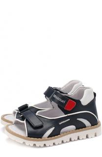 Кожаные сандалии с контрастной окантовкой Missouri
