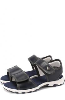 Кожаные сандалии с логотипом бренда Giorgio Armani