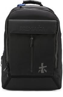 Текстильный рюкзак с внешним карманом на молнии Premiata