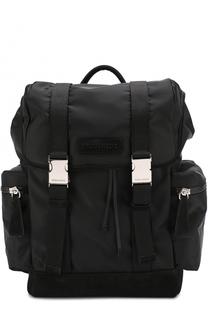 Текстильный рюкзак с клапаном и замшевой отделкой Dsquared2