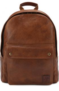 Кожаный рюкзак с внешним карманом на кнопках Belstaff