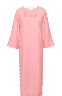 Шелковое платье-миди с квадратным вырезом Apiece Apart