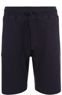 Хлопковые шорты свободного кроя с поясом на резинке Kiton