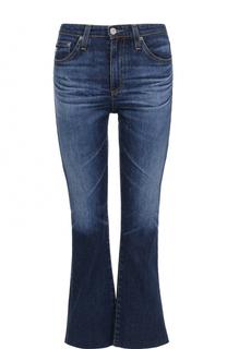 Укороченные расклешенные джинсы с необработанным краем Ag
