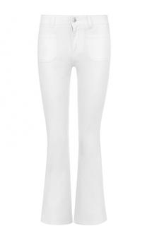 Укороченные расклешенные джинсы с фактурной отделкой Stella McCartney