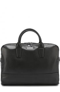 Кожаная сумка для ноутбука с двумя отделениями на молнии HUGO
