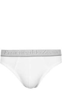 Комплект из двух хлопковых брифов с широкой резинкой Ermenegildo Zegna