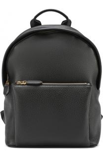 Кожаный рюкзак с внешним карманом на молнии Ralph Lauren