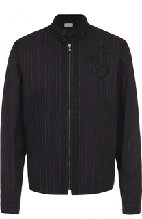 Хлопковая куртка на молнии с воротником-стойкой Dries Van Noten