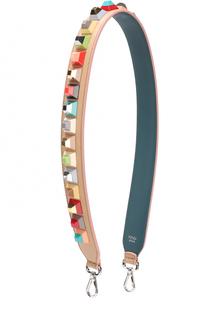 Кожаный ремень для сумки с заклепками Rainbow Fendi