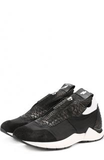 Комбинированные кроссовки с передней молнией Cinzia Araia