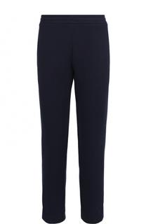 Хлопковые брюки свободного кроя с поясом на резинке Moncler