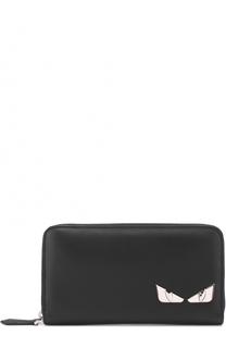 Кожаное портмоне на молнии с отделкой Bag Bugs Fendi