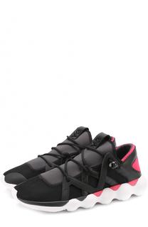 Комбинированные кроссовки с цветной вставкой Y-3