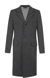 Однобортное пальто из смеси шерсти и кашемира Tom Ford