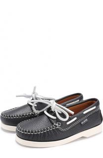 Кожаные топсайдеры с контрастной шнуровкой Atlanta Mocassin