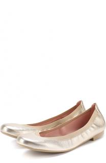 Балетки из металлизированной кожи Pretty Ballerinas