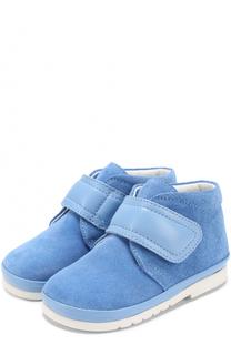Замшевые ботинки с застежкой велькро Gallucci